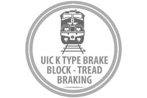 UIC K Type Brake Block - Tread Braking